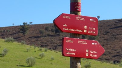 Visitors can´t get lost thanks to Geopark Villuercas is full of directons signals