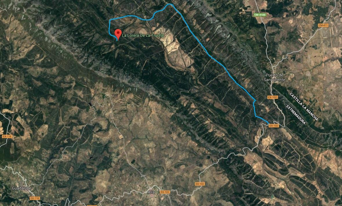 Mapa lorera