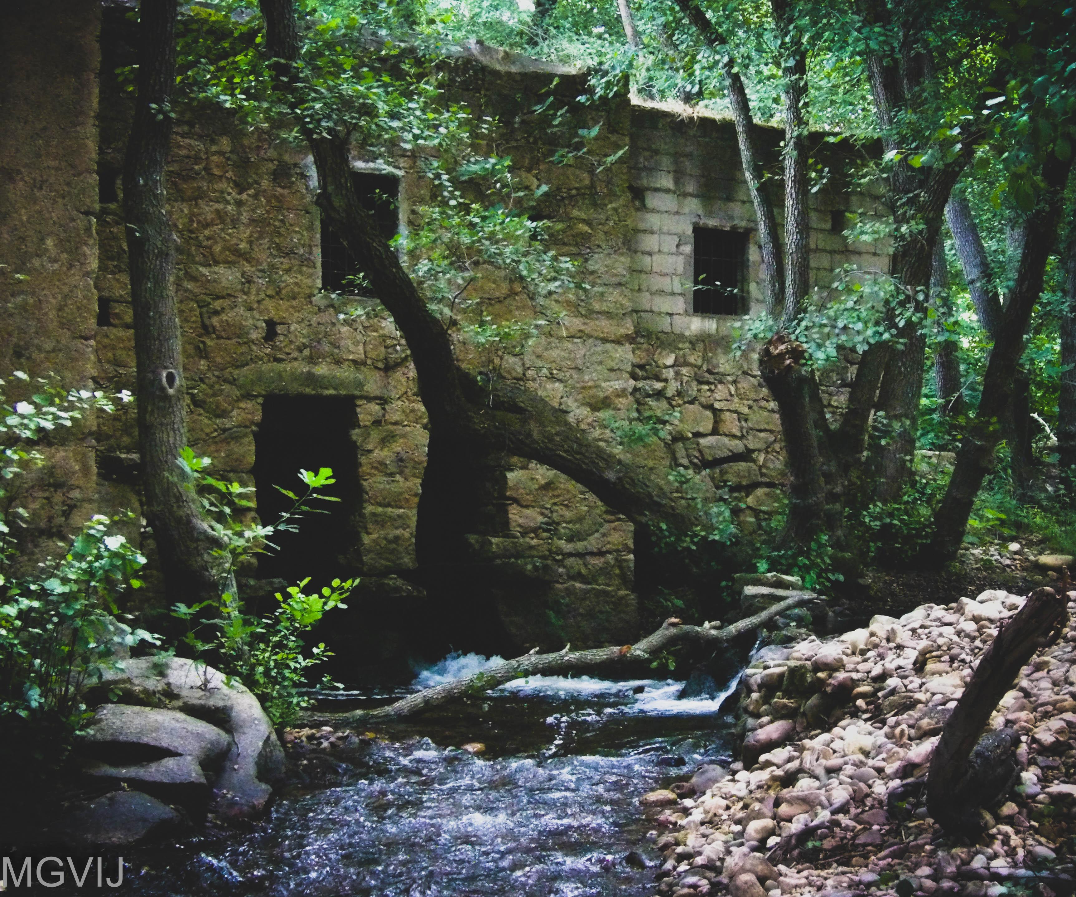 old watermill, River Ibor, Geopark Villuercas-Ibores-Jara, Extremadura, Spain